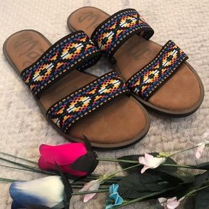 Mad Love patterned slides